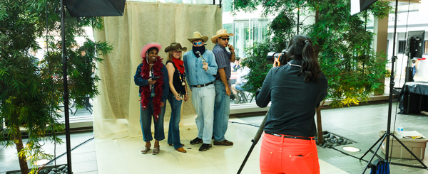 Behind the Scenes at a Custom Photobooth for a Calgary Stampede Event