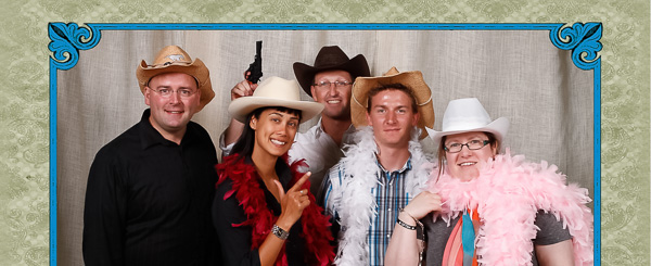 The Team Behind the Scenes at a Calgary Stampede Photobooth